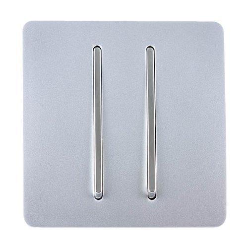 Trendi ART-S3SI - Interruptor de luz táctil, 2 interruptores, 1 vía, moderno,...