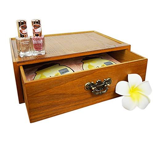 Preisvergleich Produktbild Holz Kosmetik Aufbewahrungsbox Schminktisch Desktop Schmuck Hautpflegeprodukte Staubdicht 92 * 195 * 260mm