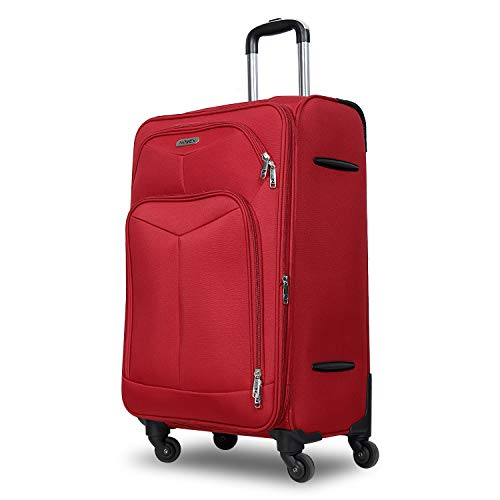 Novex Canyon Red Soft -Sided Luggage Trolley