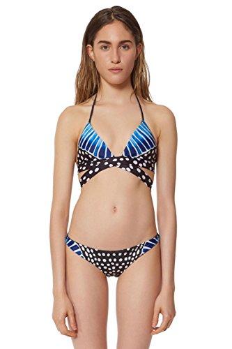 SHISHANG Bikini-Badeanzug Damen Badeanzüge Bikini-Badeanzug Europa und den Vereinigten Staaten Retro Umwelt Schwimmen Schwimmen Waten Blue