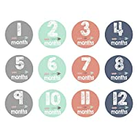 Ronshin Fashion 12pcs/set Newborn Baby Monthly Sticker 1 to 12 Month Anti-dirty Baby Age Label Paper