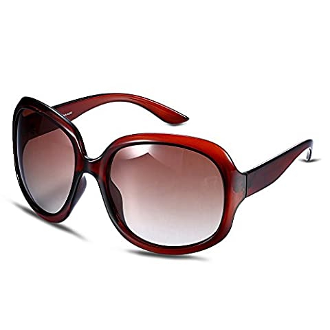 Lunettes de soleil/Big box-style lunettes de soleil polarisées/ cadre blanc-D