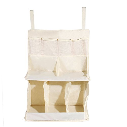 Baby Nursery Organizer-Hanging Organizer for Bed - Diaper Organizer With Large Pockets - Ample Storage Space Holds Diapers & Wipes, Creams & Lotions - Convenient Access to All Baby Changing