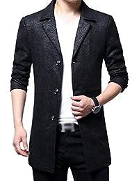 YiLianDa Herren Slim Fit Sakko Blazer Freizeit Business Jacke Anzugsjacke Jacket  Mantel 44e13aa9e9