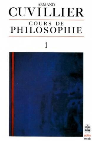 Cours de philosophie, tome 1