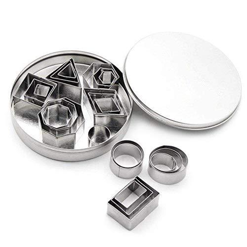 Mini Geometrisch Ausstechformen Set 24 Einfacher Rand Geometrische Formen Mini Schneider DIY Tools für Küche Backen Halloween Weihnachten
