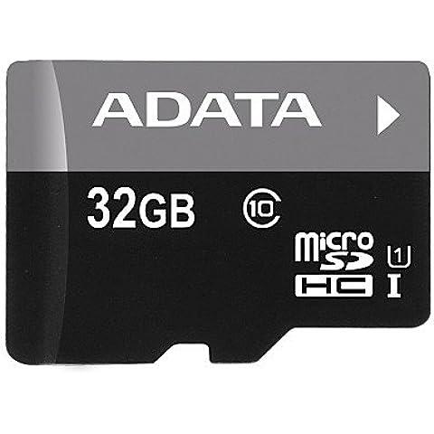 ADATA Premier microSDHC UHS-I U1 Class10 32GB 32GB MicroSDHC Class 10 memoria flash - Tarjeta de memoria (MicroSDHC, Negro, Gris, Class 10, Norton Internet Security trial, Ampolla, FCC, CE, BSMI,