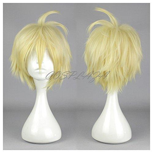 COSPLAZA Perücke Cosplay Wig Seraph of the End Mikaela Hyakuya Blond Gelb kurz Heat Resistant Party - Mikaela Hyakuya Kostüm