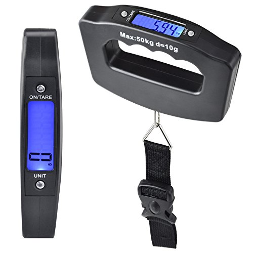 Bulfyss Luggage Travel Weighing Scales - Black Handle With Strap...