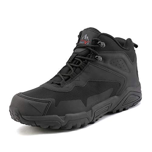 NORTIV 8 Herren JS19001M Schwarz wasserdichte Wanderschuhe Outdoor-Schuhe Backpacking Trekking Trails Größe 44 EU/10.5 US - Herren Schwarz Kleid Schuhe