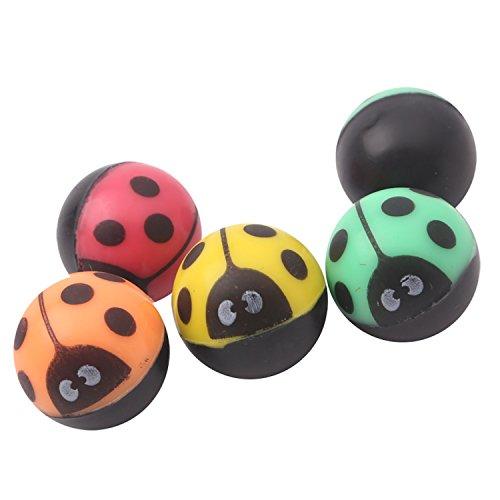 12 Springbälle als Mitgebsel Geschenke Spielzeug für Kinder | Marienkäfer Springball für Geburtstag Party Favors | Bunte Flummi Beetle Bälle | Bouncing Gummi Ball | Bouncy Spielzeuge Set