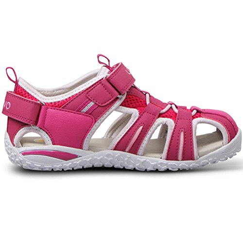"Zoccoli Sandali per Bambina - Tyidalin EVA Clogs ""Bruchetto fluorescente"" Unisex Blu Rosa Verde EU16-26 Pink"
