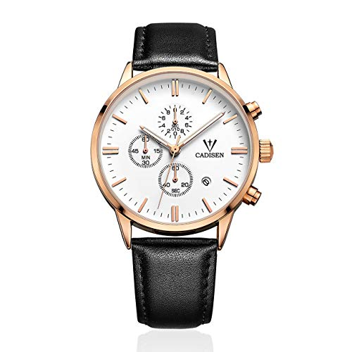 Prima05Sally High Class Business Männer Quarzuhr Runden Zifferblatt Casual Männer Männlichen Lederband Chronograph Display Armbanduhr -