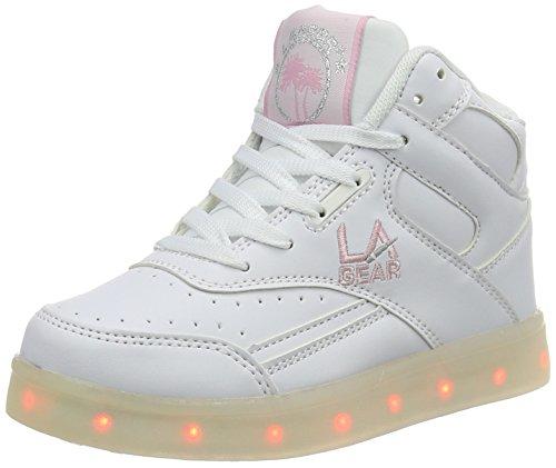 L.A. Gear Flo Lights, Chaussons montants mixte enfant Weiß (white/soft pink)