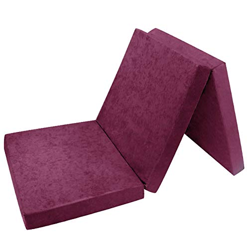 *FORTISLINE Klappmatratze Gästematratze 19. Violett L – 195x80x9cm W389_19*