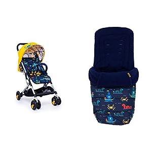 Cosatto Woosh Sea Monster Stroller and Matching Footmuff Bundle   7