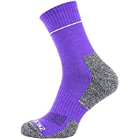 Seal Skinz Quickdry Ankle Sock - Suitable for Walking, Cycling, Hiking, Sailing, Camping, Field, Horse Riding - Multi Use Calcetines, Purple Light Grey, Medium