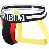POIUDE Ausverkauf Männer Unterwäsche Boxershorts Sexy Slips Mode Farbe Taille Stoß Sets Strings(Schwarz, Medium)
