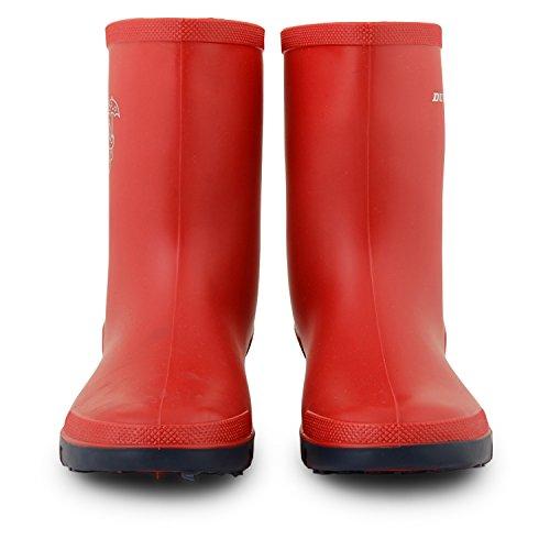 Jungen Mädchen Dunlop Wellington Snow Stiefel Gummistiefel Gummi Länge Knöchel Schuhe Größen UK Rot