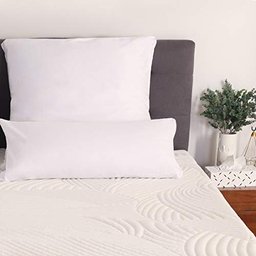 Sweetnight Kissenbezüge Baumwolle Kissenbezug 40x80 Doppelpack Kissenhülle Kopfkissenbezug mit Reißverschluss Weiß -