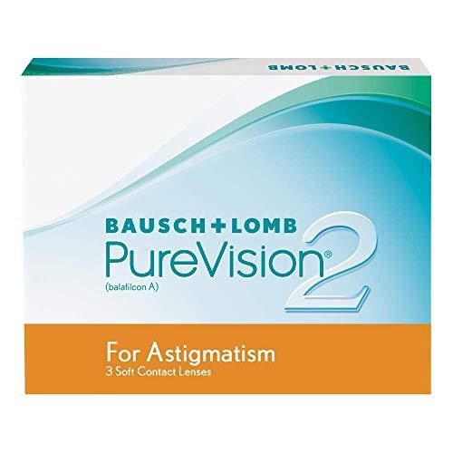 PureVision2 HD for Astigmatism Monatslinsen weich, 3 Stück / BC 8.90 mm / DIA 14.50 CYL -0.75 / ACHSE 10 / -03.00 Dioptrien