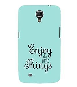 EPICCASE Enjoy the little things Mobile Back Case Cover For Samsung Galaxy Mega 6.3 I 9200 (Designer Case)