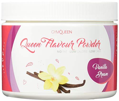 Queen Flavour Powder 200g Vanilla Aroma Pulver für Milchspeisen und für Lebensmittel in 25 Flavours zum Mischen und zum Backen Lebensmittelaroma für Protein und Eiweiß Shakes -