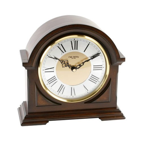 Wooden Broken Arch Mantel Clock With 2 Tone Roman Dial And Westminster Chime