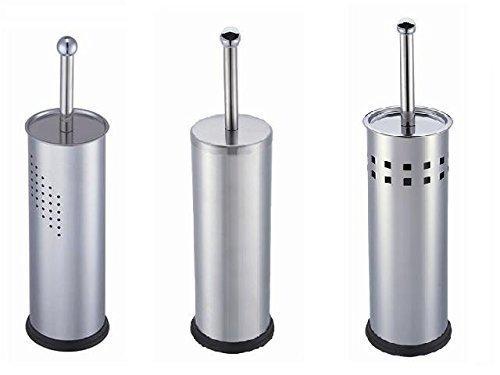 Stilvolle Bürstenhalter aus Edelstahl in drei Varianten (eckige Löcher)