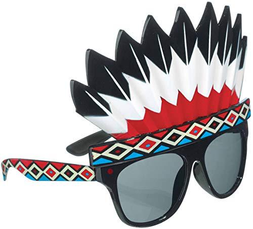 Indische Kostüm Mit Kopfschmuck - amscan 250495-55 Spaß-Brille Indianerschmuck, Mehrfarbig,