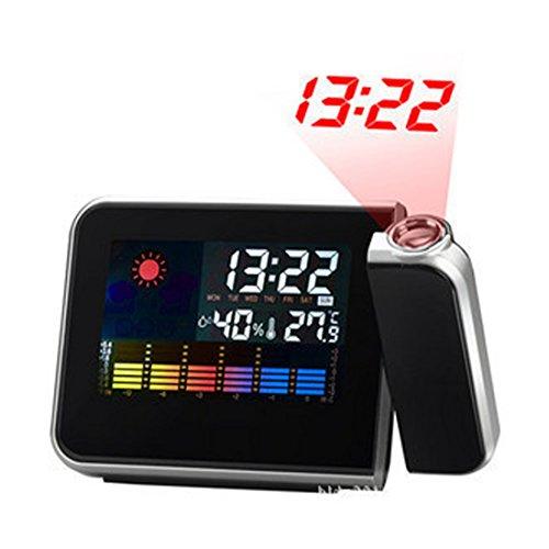 Up-Up Wake-Up Light Alarm Clock Relojes de viaje-Proyección reloj de pantalla en color