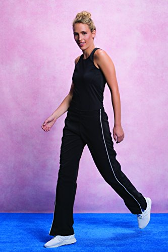 KUSTOM KIT Womens Track Pant, Pantalon de Sport Femme Noir (noir)