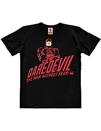 12f148f7d Logoshirt Marvel Comics - Daredevil - El Hombre Sin Miedo Camiseta 100%  Algodón ecológico para Niño - Negro…