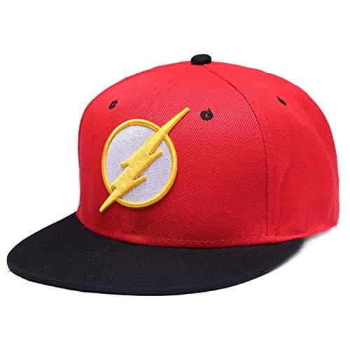 YanLong Animation Caps Flash Snapback Caps Baseballmütze für Erwachsene Cool Boy Hip-Hop-Hüte für Männer Frauen Schwarz