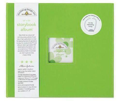 Album 30,5x30,5cm D-ring-Limeade, Doodlebug Design Inc, 30x30cm, Alba Blöcke, Scrapbooking Papier - Doodlebug Doodlebug Design Album