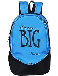 "POLE STAR ""BIG-3"" 38 Lt sky Blue Black Casual Backpack I School Bag"