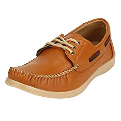 Quarks Mens Tan Synthetic Smart Casual Shoes Q1110TN-7