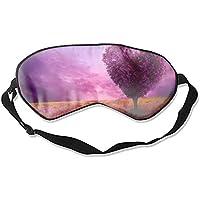 Artistic Tree Augenschutz in Herzform, Violette Feldblume Sonnenuntergang, unisex, Ultimate Schlafhilfe preisvergleich bei billige-tabletten.eu