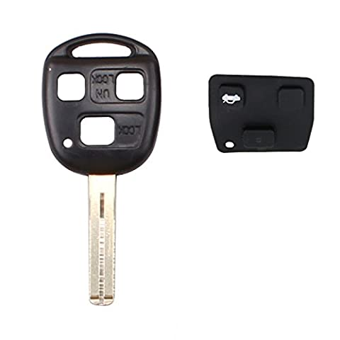 Replacement 3 Button Remote Short Blade Key Control Transmitter Combo for Lexus ES300 GS300 GS400 IS300