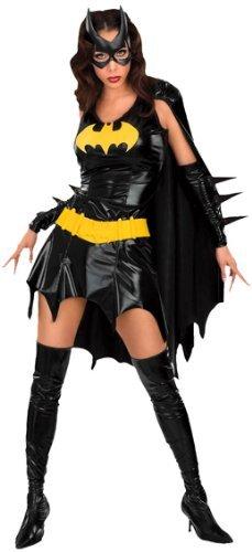 Sexy da donna effetto bagnato Batgirl supereroe Comic Book Hero Halloween party costume travestimento UK 6–20