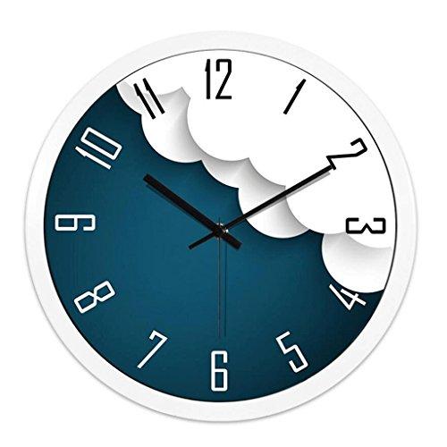 ZLR Mute De Mode Horloge Murale Personnalisée Horloge Murale Creative Mute Horloge À Quartz Électronique Salon ( Couleur : Blanc )