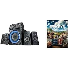 Trust  GXT 658 5.1 Surround Lautsprecher Set (mit Far Cry 5 Standard Edition PC Uplay Code, mit Fernbedienung, 180 Watt, LED Beleuchtung) schwarz