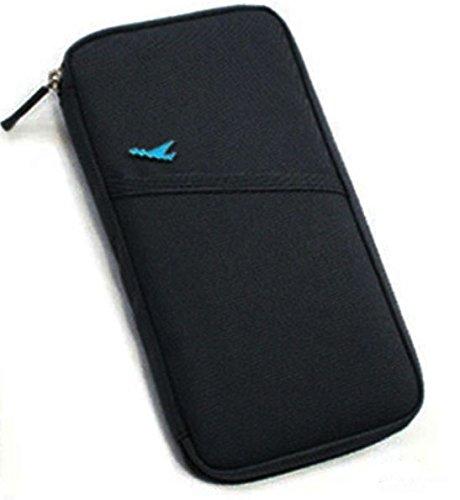 Reise Brieftasche Tasche Wallet Reisepass Etui Geldbörse Reisemappe 25x13x2cm 463004 (Brieftasche Tasche)