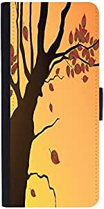 Snoogg Floral Illustration Graphic Snap On Hard Back Leather + Pc Flip Cover ...