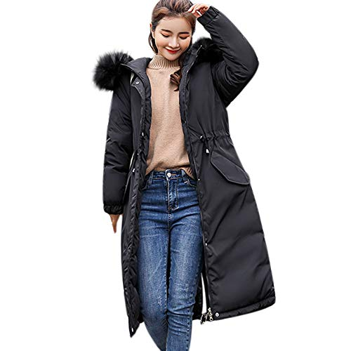 Theshy Damen Winterjacke Wintermantel Lange Daunenjacke Jacke Outwear Frauen Winter Warm Daunenmantel Arbeiten Sie Festen BeiläUfigen Dickeren DüNnen Mantel Um Dicker Schlank