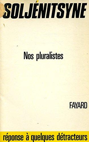 Nos Pluralistes [Pdf/ePub] eBook