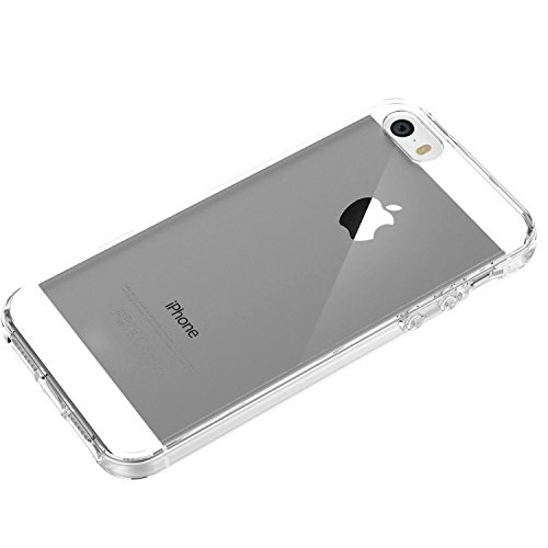 Coque iPhone 5S, Coque iPhone 5, Aprtwin® Fashion Style Coque, Crystal Clear Soft TPU Hybrid Bumper Coque Couverture pour iphone 5/5S (4.0 Pouce) Clear