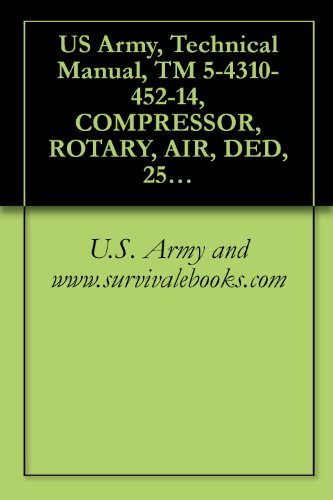 anual, TM 5-4310-452-14, COMPRESSOR, ROTARY, AIR, DED, 250 CFM 100 PSI TRAILER-MOUNTED, (NSN 4310-01-158-3262), COMPONENT OF PNEUMATIC ... manauals, special forces (English Edition) ()