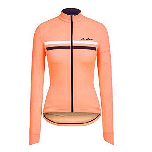 Uglyfrog LJW04 2019 Neue Winter Jersey MTB Thermisches Fahrradtrikot Vlies Thermo Langarm Shirt Damen Breathable Radfahren Fahrrad Lange Hülsen Fahrrad Hemd Frauen Langarm Fahrradbekleidung Radfahren -