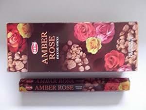 Hem Amber Rose Incense Sticks(9.3 cm X 6.0 cm X 25.5cm, Black)